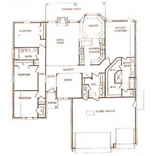 Combest Open Floor Plan Home Designs : Open Floor Plans, Patio Home Plan, House Designers
